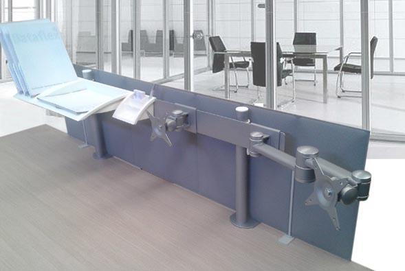 Binari attrezzati per tavoli ufficio standard
